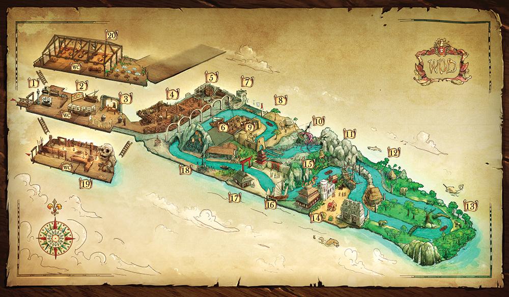 Mapa da Visita