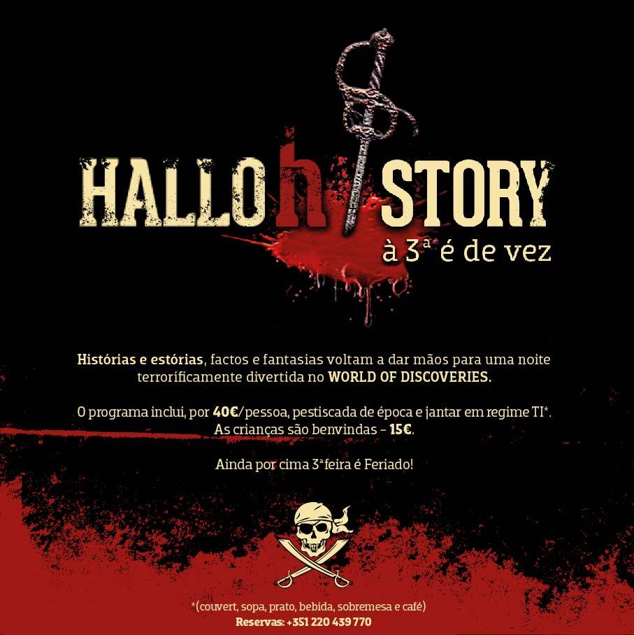Histórias e estórias, factos e fantasias voltam a dar mãos para uma noite terrorificamente divertida no WORLD OF DISCOVERIES.